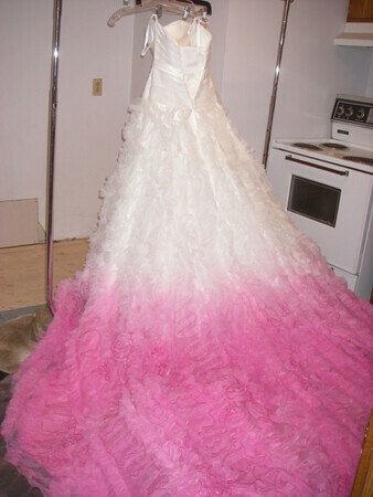 the Dye Dept. - Dyeing - Wedding dress ombre